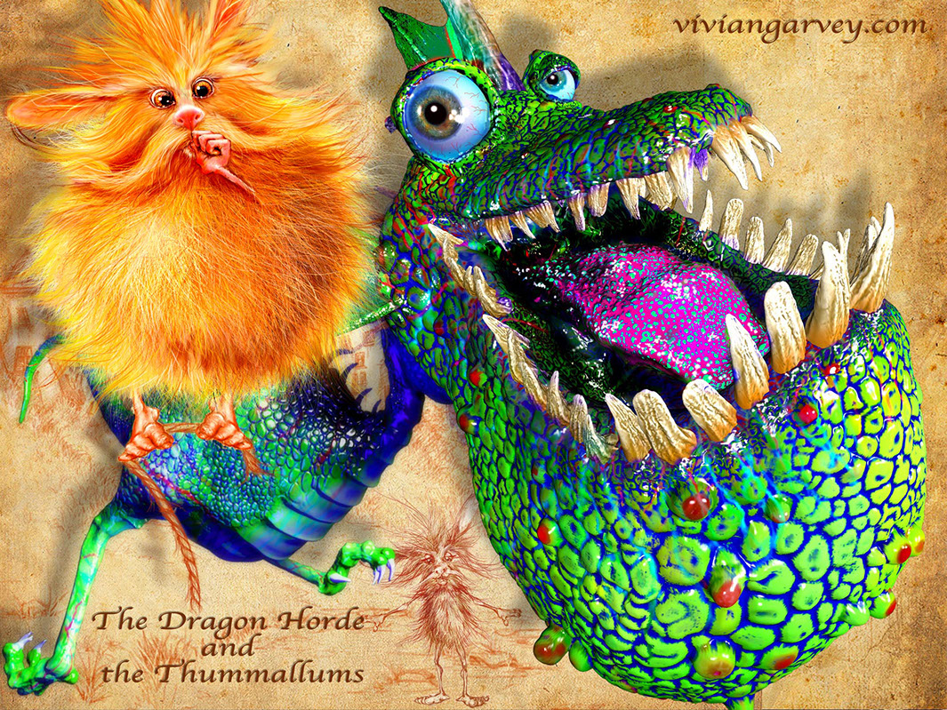 Dragon and Thummallum from The Dragon Horde and the Thummallums by Vivian gavrey