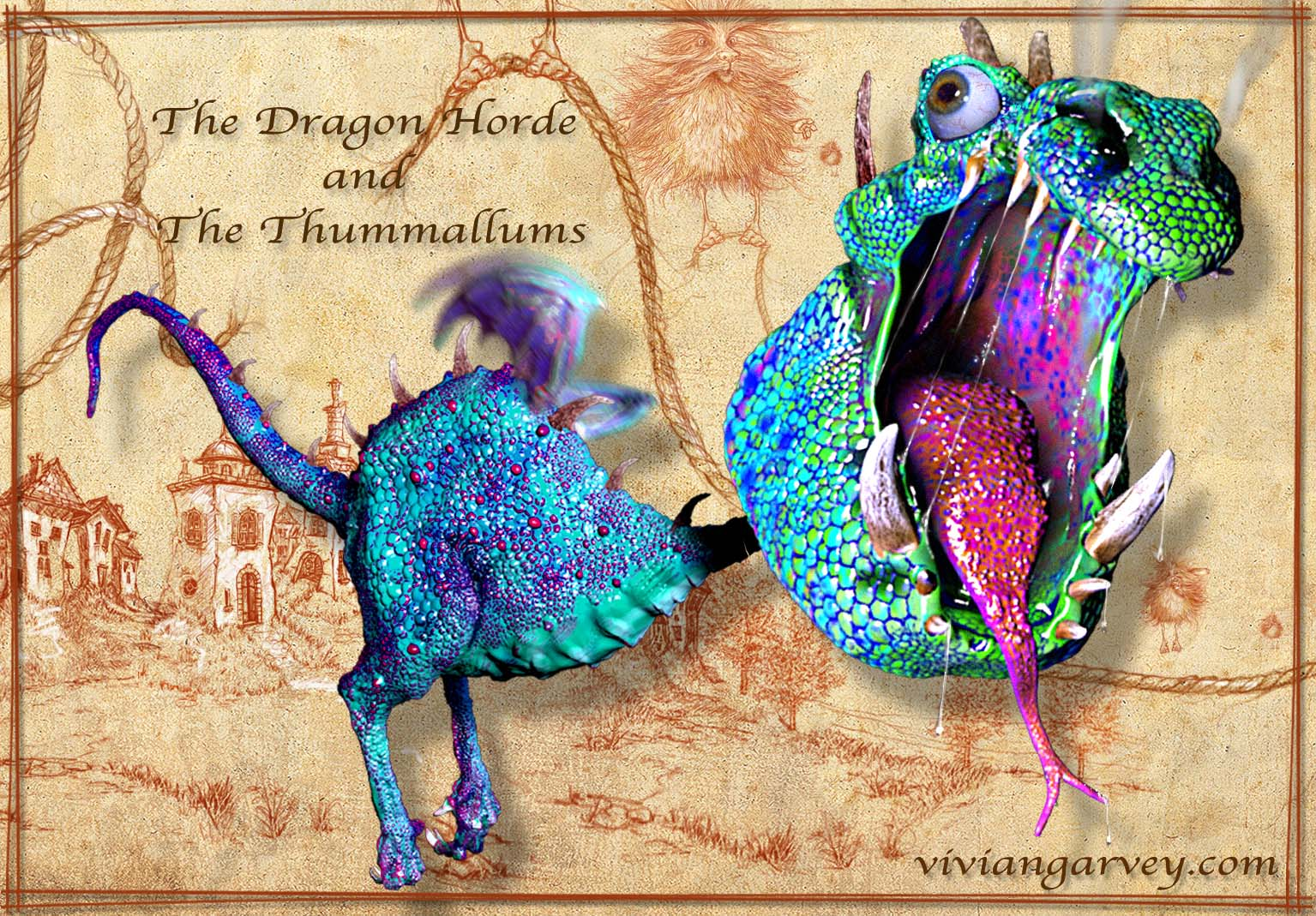A Dragon From The Dragon Horde and the Thummallums by Vivian Garvey