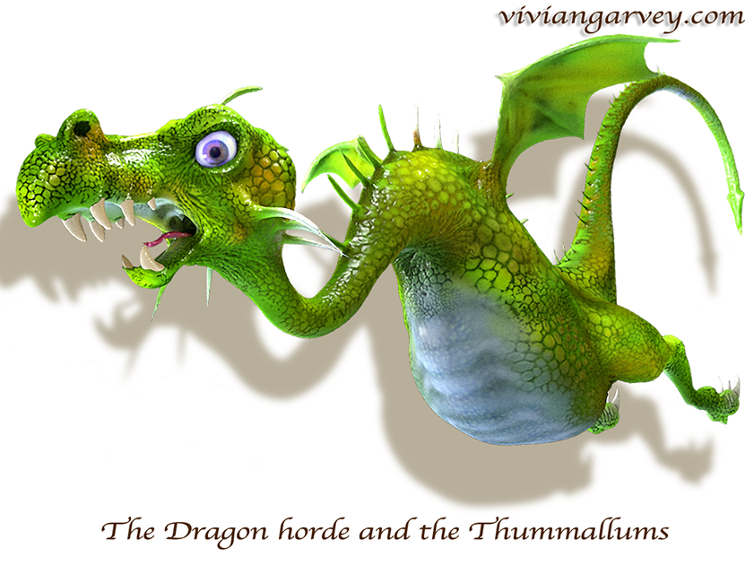 The Dragon Horde and the Thummallums,  an exciteing interactive children's picture book app by Vivian Gavrey