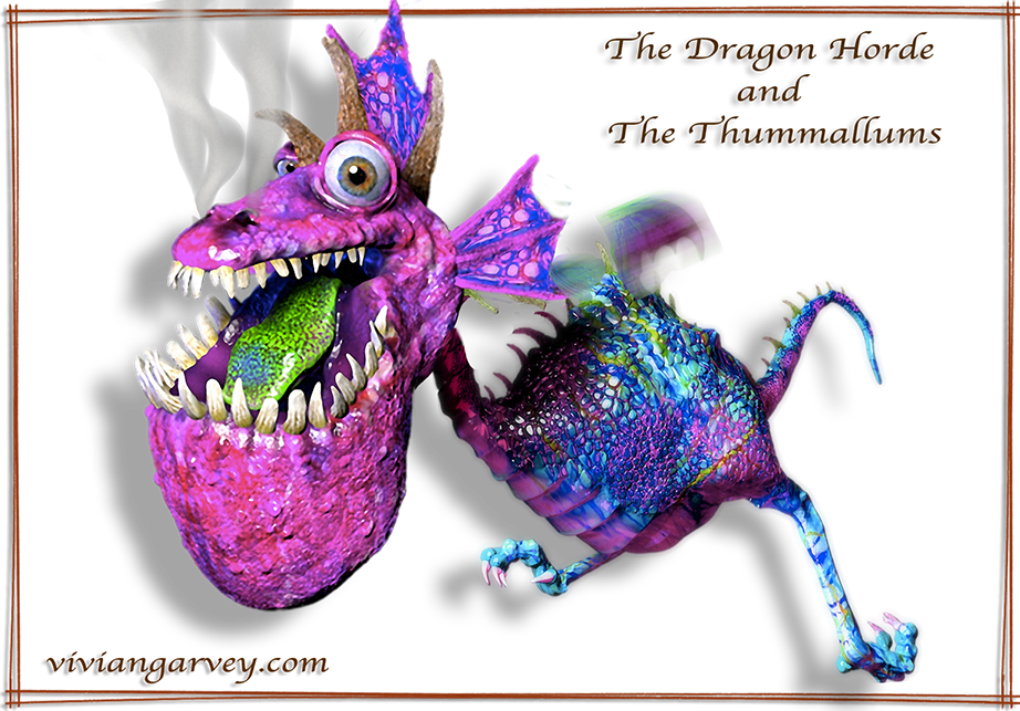 A Dragon from the Dragon Horde and the Thummallums by children's book author and illustrator Vivian Gavrey