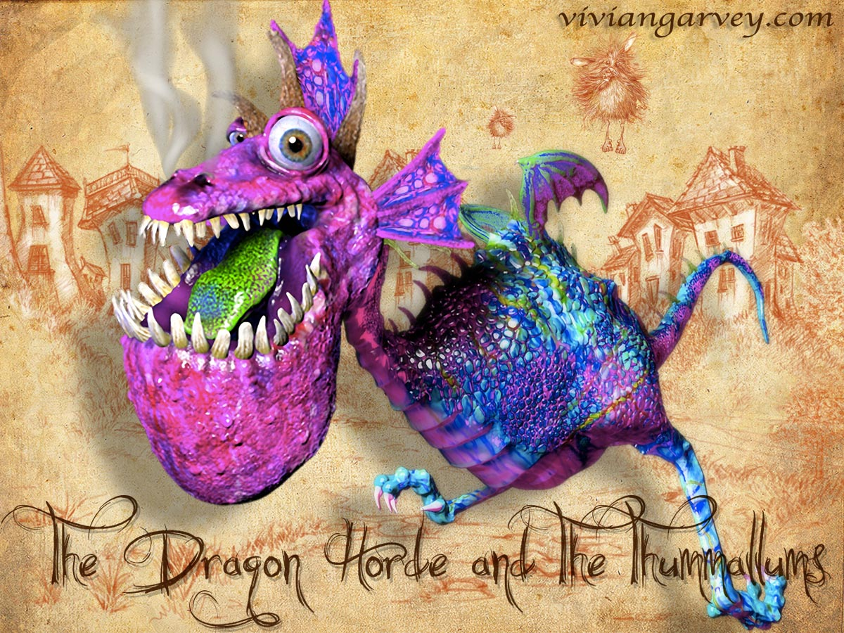 Dragon from the Dragon Horde and the Thummallums by Vivian Garvey