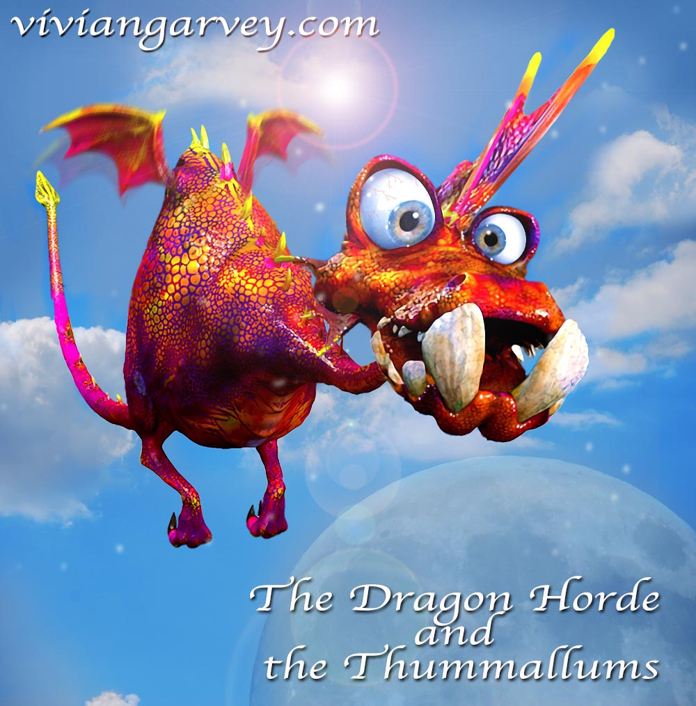 A Dragon From The Dragon Horde and the Thummallums, an interactive children's book app by Vivian Garvey