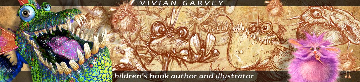 Vivian Gavrey children's book author and illustrator, Main Dragon Logo